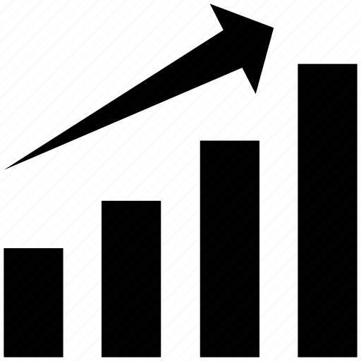 bar chart, graph, increasing, profit, profit graph, progress icon