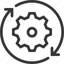 cog wheel, gear, production, recycle, settings, setup