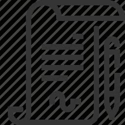 bureaucracy, digital, documents, electronic signatures, files, paperwork icon
