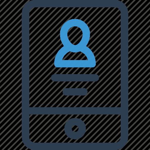 account, cv, info, mobile, phone, profile, user icon