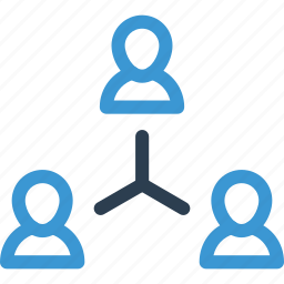 coworkers, hierarchy, management, relationship, structure, team icon