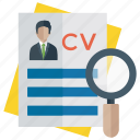 employee search, finding, human resource, recruitment, searching candidate icon
