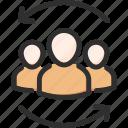 change, hr, human, resources, team, update icon