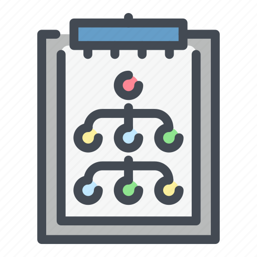 clipboard, document, organization, plan, report, responsibility, structure icon