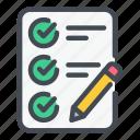 check, checklist, list, pencil, plan, task, tick