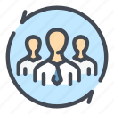 business, change, group, marketing, people, team, update icon