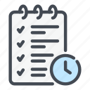 business, list, marketing, plan, schedule, task, time icon