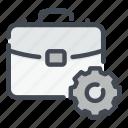 business, case, gear, management, options, settings, suit