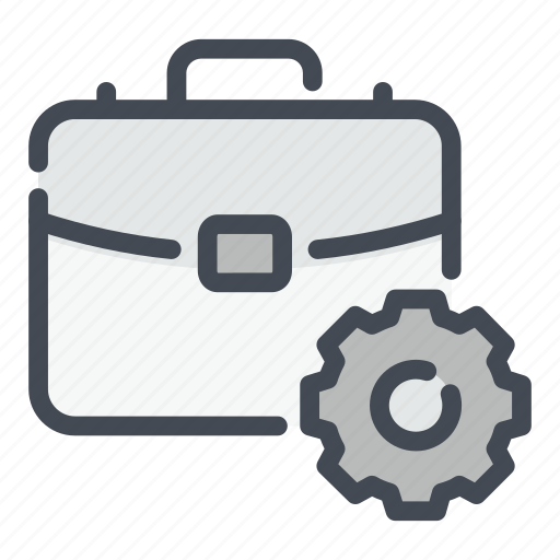 Business, case, gear, management, options, settings, suit icon - Download on Iconfinder
