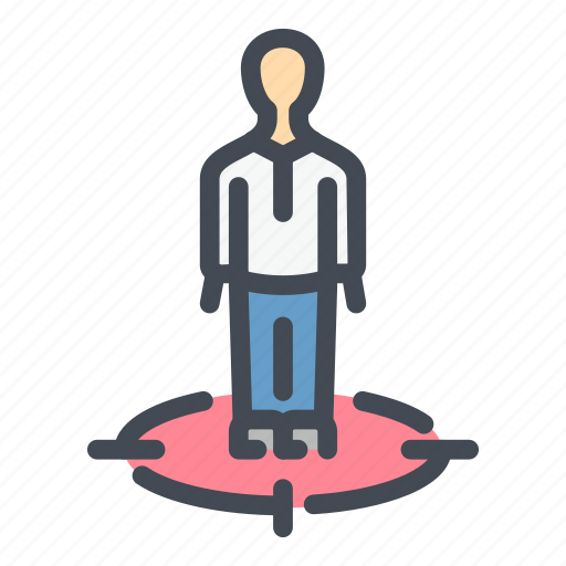 audience, man, marketing, person, profile, target, user icon