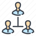 business, hierarchy, man, management, organization, person, structure icon