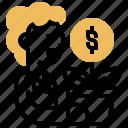 bonus, compensation, management, profit, revenue icon