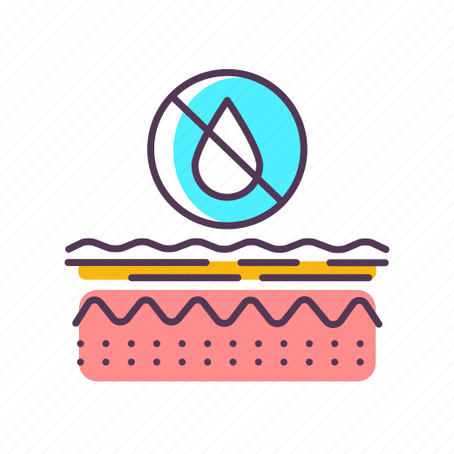 care, dehydration, dermatology, dry, epidermis, layer, skin icon