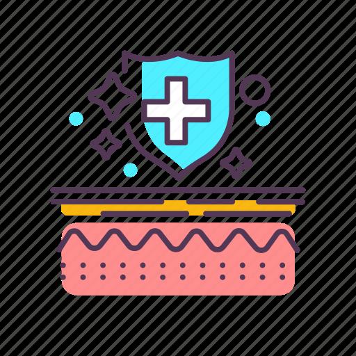 care, dermatology, epidermis, layer, medical, skin, treatment icon