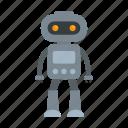 alien, child, computer, person, retro, robot