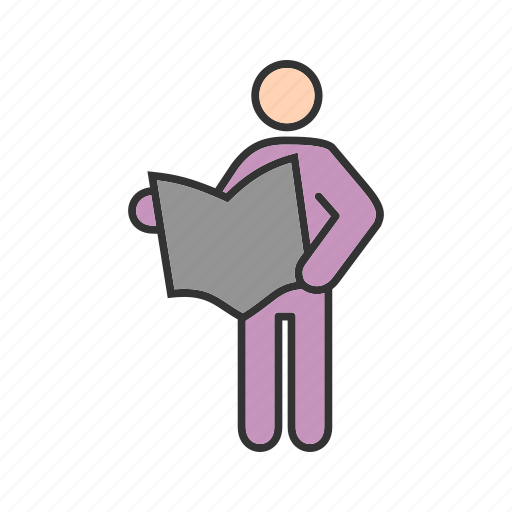 book, group, newspaper, person, read, reading, study icon