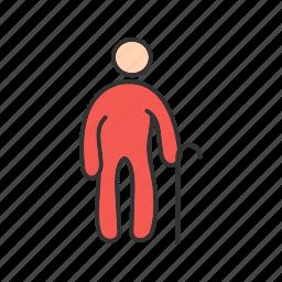 citizen, grandfather, male, man, old, people, senior icon