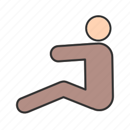 chair, exercise, man, person, sitting, young icon