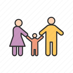 child, dad, family, father, happy, parents icon