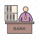 banker, businessman, cash, legal, loan, mortgage, people icon