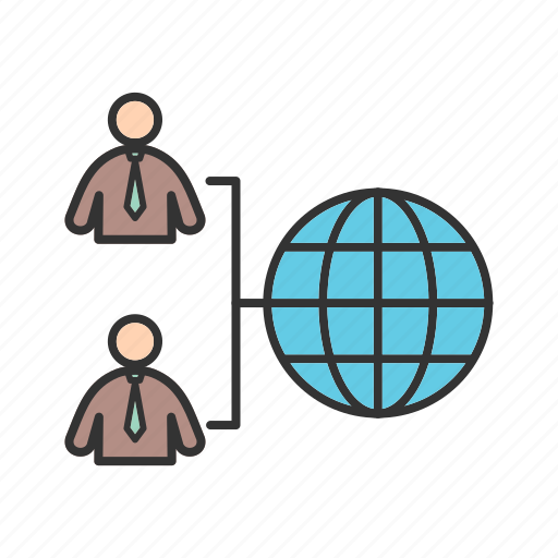 communication, connection, data, global, network, system, user icon