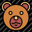 animal, bear, kingdom, mammal, wildlife icon