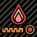 bonfire, burn, camping, nature icon