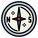 compass, direction, location, tools icon