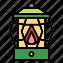 flame, illumination, lantern, light icon