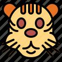 animal, mammal, tiger, wildlife
