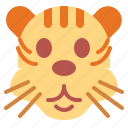 animal, mammal, tiger, wildlife icon