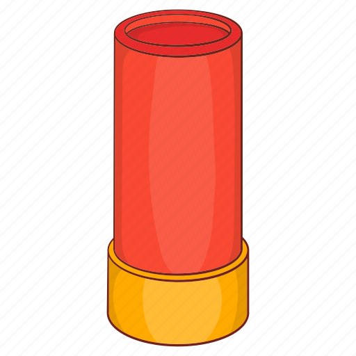 ammunition, brass, cartoon, cartridge, gun, shell, weapon icon
