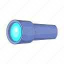 monocular, tube, instrument, optical, scope, cartoon, spyglass icon