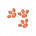 paw, pet, foot, shape, animal, print, cartoon icon