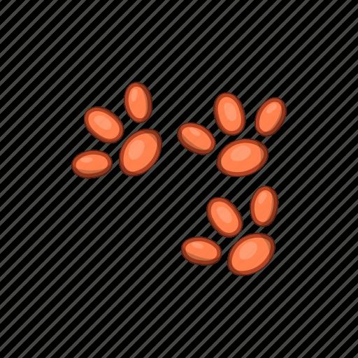 animal, cartoon, foot, paw, pet, print, shape icon