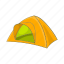 adventure, camp, cartoon, outdoor, tent, tourism, travel icon
