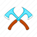 hunting, lumberjack, hunt, metal, cartoon, axe, tool icon