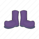 boot, cartoon, fishing, pair, rubber, shoe, waterproof icon