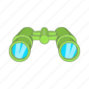 binocular, hunt, watch, zoom, military, cartoon, vision icon
