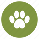 animal, animals, footmark, footprints, pet icon