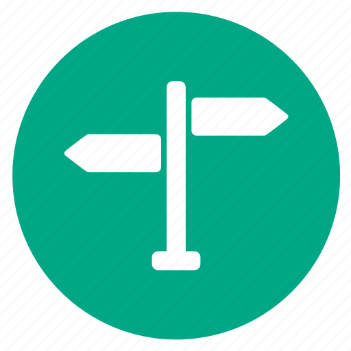 arrow, location, navigation, pointer, signpost, street icon