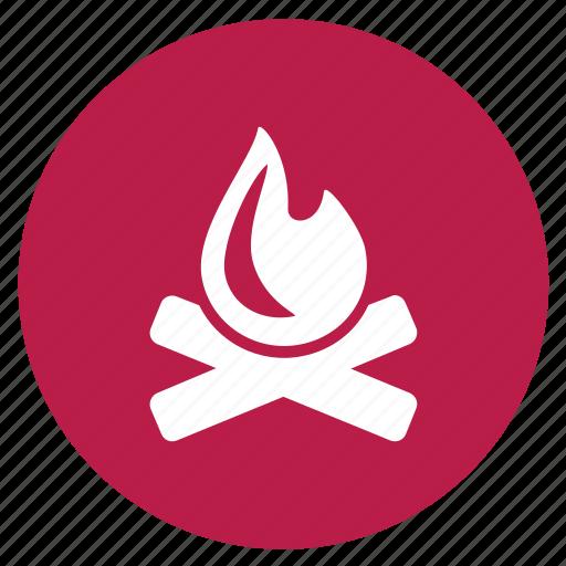 bale fire, bonfire, camp fire, fire, survival icon