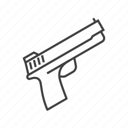 centerfire, firearm, gun, hunting, pistol, weapon icon