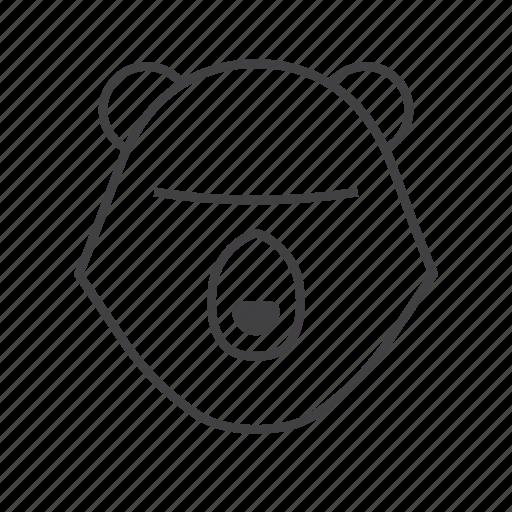 animal, bear, hunt, hunting icon