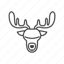 animal, deer, hunt, hunter, hunting, moose icon
