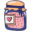 conserve, doodle, food, jam, jar, marmalade, sweet icon