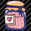 conserve, doodle, food, jam, jar, marmalade, sweet