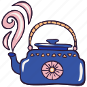 hygge, kettle, kitchen, pot, teapot icon