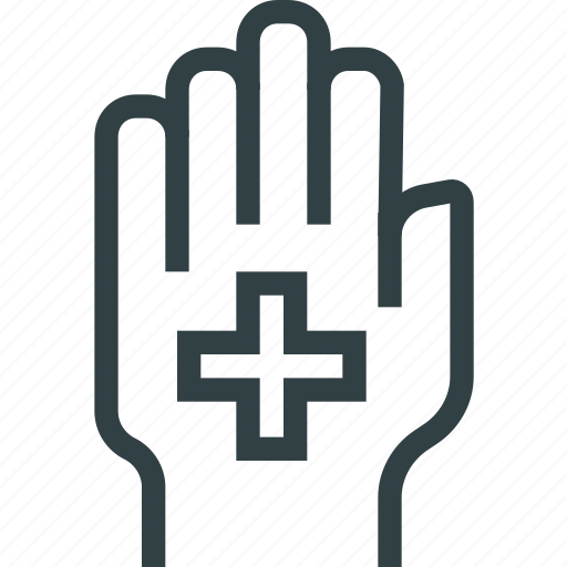 care, hand, protection icon