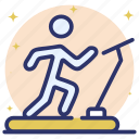 exercise, fitness, gym, running, treadmill, workout icon